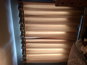 Curtains with queen duvet, duvet cover and accessories