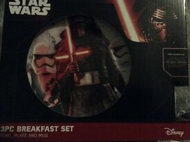 Star Wars breakfast sets x3 new and boxed