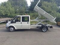 2006 ford transit 115t350 lwb crew cab tipper and scissors lift 1 previous owner from new