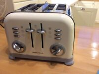 Morphy Richards toaster cream 4 slice