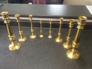 Solid brass candle sticks
