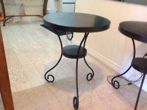 Metal accent tables from Ikea