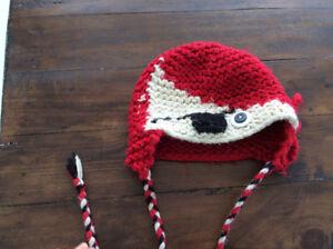 Tuque de pirate en laine 6-18 mois confectionnée à la main