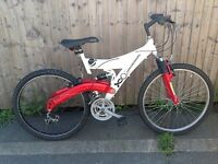 Universal full suspension mountain bikes ready to ride serviced