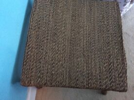 Vintage conservatory coffee table bamboo cane table wicket 70s style rope decorated top