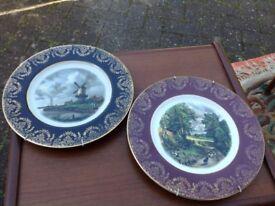 2 china wall plates