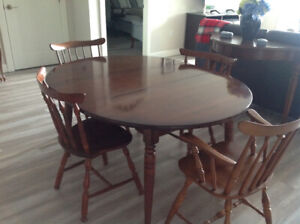 Vilas dining table and six chairs , buffet