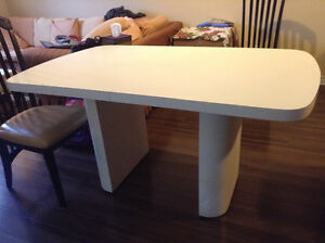 Dining Table(White) & 4 chairs