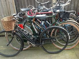 Large selection of secondhand bicycles all serviced and ready to ride away