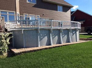 Oval 12x24 above ground pool