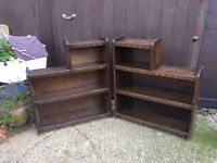 Two matching bookcases shelves