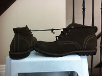 Brand New Brown ankle high shoes, size 11.