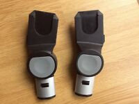 Maxi Cosi car seat adaptors for use with the i Candy apple pushchair