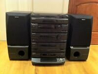 SONY HCD-N455 COMPLETE STEREO AUDIO SYSTEM
