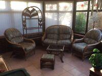 7 Piece Cane Conservatory Furniture