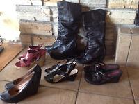 lot de 7 paires de sandales/souliers/bottes grandeur 6