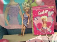 Barbie Appearal,Doll, Dress,RubberBoots,PillowCase,Book,Shose