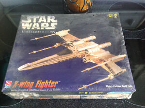 Gold plated star wars xwing