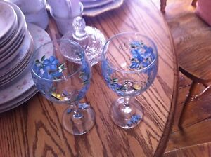 Glass Candleholders, Glasses, Butter Dish, Candy Dishes,Decanter