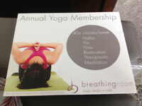 Gift certificate for yoga class
