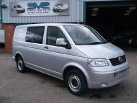 VW TRANSPORTER 2.5 T32 SWB TDI 130BHP KOMBI T5 VAN IN SILVER WITH AIR CON @ SVS