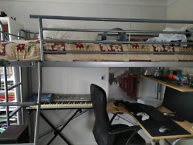 *FREE*High Sleeper Bed With Desk and Shelf