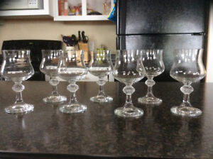 Crystal wine glasses - REDUCED from $25 to $15