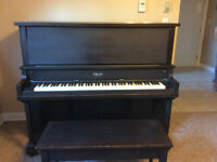 A upright piano