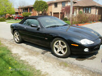 2002 Jaguar XKR Black on Black Convertible