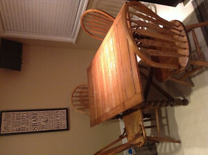 Oak Barley Twist Table and Four Chairs
