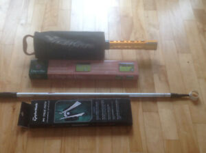 A variety of golf items