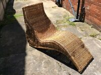 IKEA WICKER LOUNGER