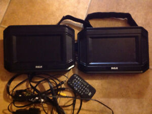 """RCA 7"""" Dual DVD Players For The Car Asking $70"""