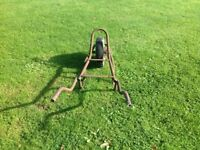 Wheel barrow chassis ideal for moving paving slabs.