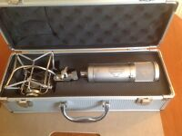 SONTRONICS STC2 studio condenser microphone with suspension mount.