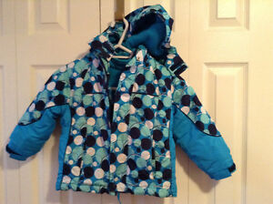 George winter coat with removeable hood and fleece -Size 4