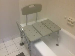 BATH SEAT WITH HAND-HELD SHOWER ATTACHMENT