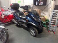 REDUCED!!!   OBO.  2008 Piaggio MP3 400ie, 3-Wheel Maxi Scooter