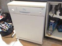 Whirlpool freestanding white dishwasher