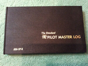 Aviation pilot log book. Carnet de bord de pilote neuf