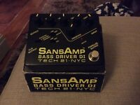 Tech21 SansAmp bass driver DI effects pedal