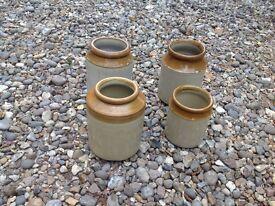 Stoneware Storage Jars