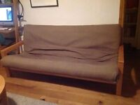 Futon Company 3 Seat Sofa Bed with Removable Sofabed Futon Cover - Cost £799 New VGC (Can Deliver)