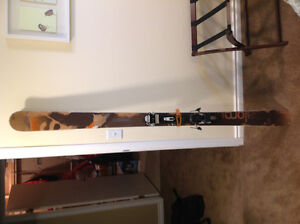 Salomon Sentinal 188 skis with Marker Baron bindings and skins