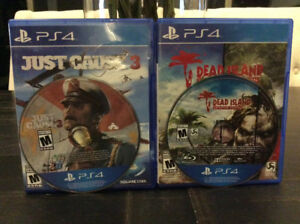JUSTCAUSE 3 & DEAD ISLAND DEFINITIVE COLLECTION! 2 games for $12