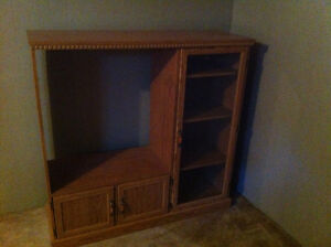 """TV Cabinet, holds 32"""" TV with glass door"""