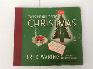 FRED WARING TWAS THE NIGHT BEFORE CHRISTMAS DECCA RECORDS 10""