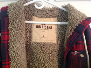 HOLLISTER LINED HOODIE Size  large