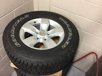 Factory Dodge ram alloy wheels and LT GY tires with Kevlar & tps