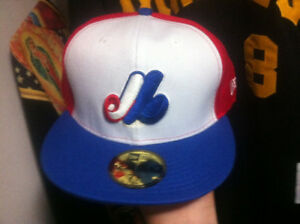 Montreal expos mlb fitted new era hat 7.5/8 new